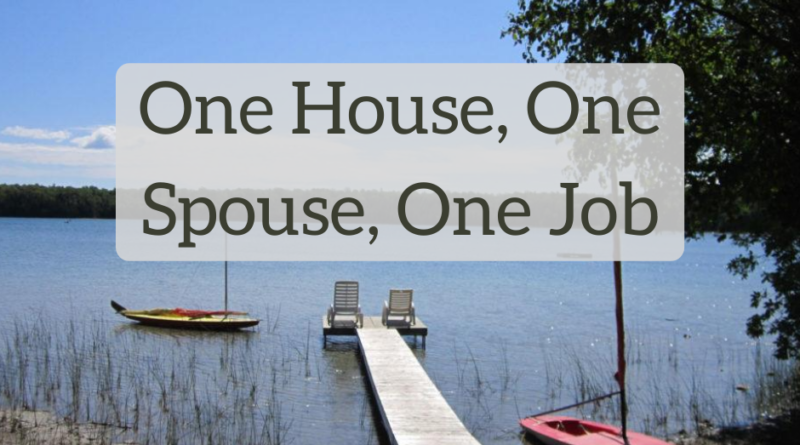 One House, One Spouse, One Job - The White Coat Investor - Investing & Personal Finance for Doctors
