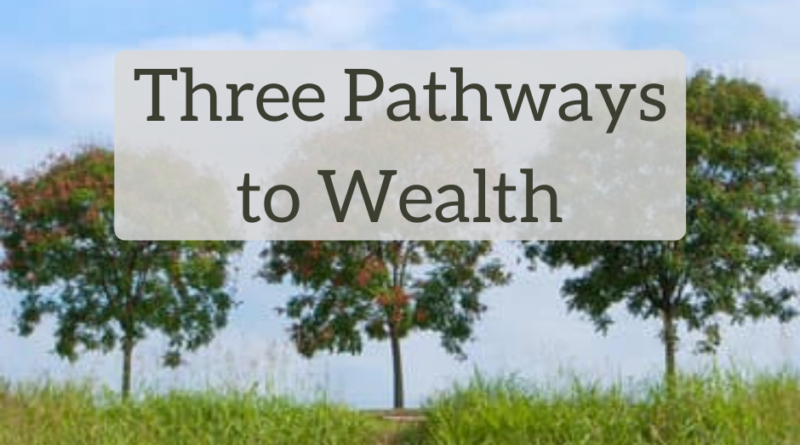 Three Pathways to Wealth - The White Coat Investor - Investing & Personal Finance for Doctors