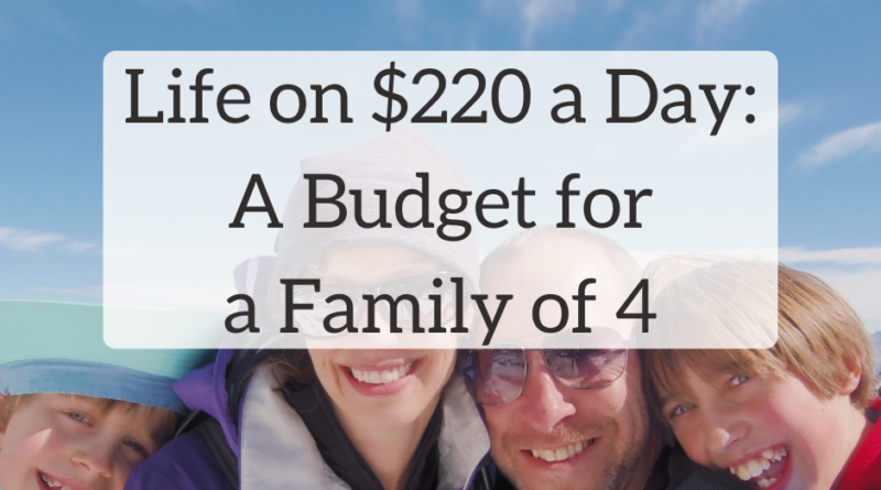 Life on $220 a Day: A Budget for a Family of 4 | White Coat Investor