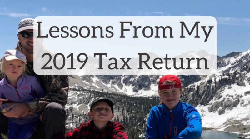 Lessons From My 2019 Tax Return | White Coat Investor