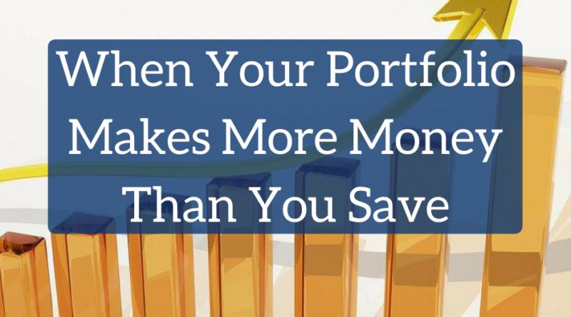 When Your Portfolio Makes More Money Than You Save | White Coat Investor