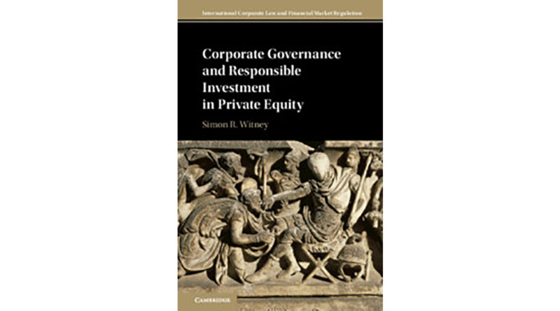 Book Review: Corporate Governance and Responsible Investment in Private Equity